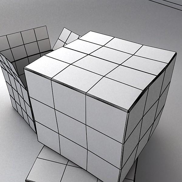 photoreal cardboard carton high res v2 3d model 3ds max fbx obj 130180