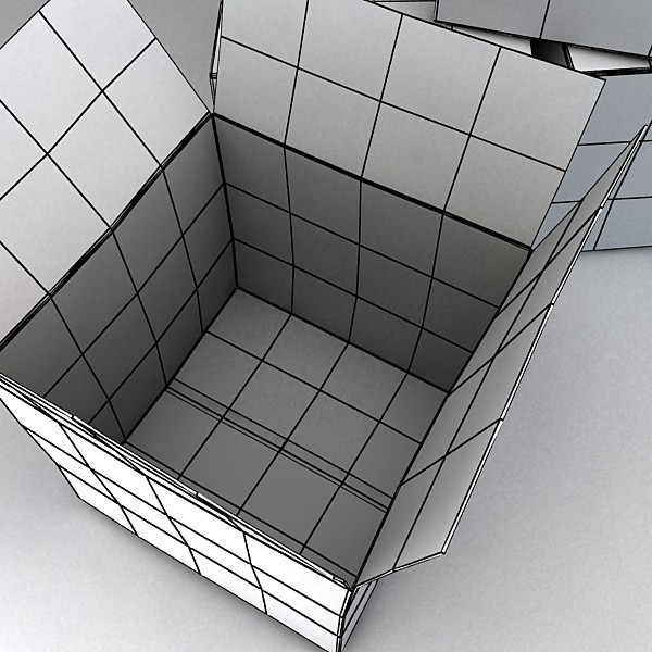 photoreal cardboard carton high res v2 3d model 3ds max fbx obj 130181