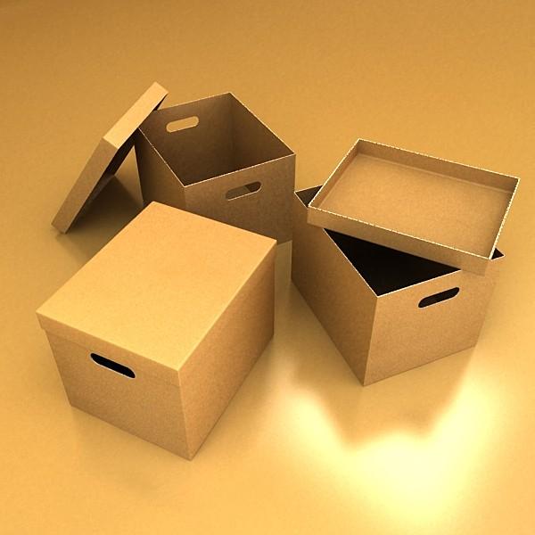 photorealistic cardboard banker box high 3d model 3ds max fbx psd obj 130224