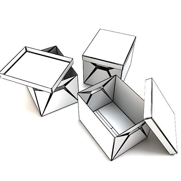 photorealistic cardboard banker box high 3d model 3ds max fbx psd obj 130229