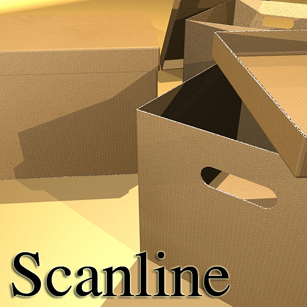 photorealistic cardboard banker box high 3d model 3ds max fbx psd obj 130232