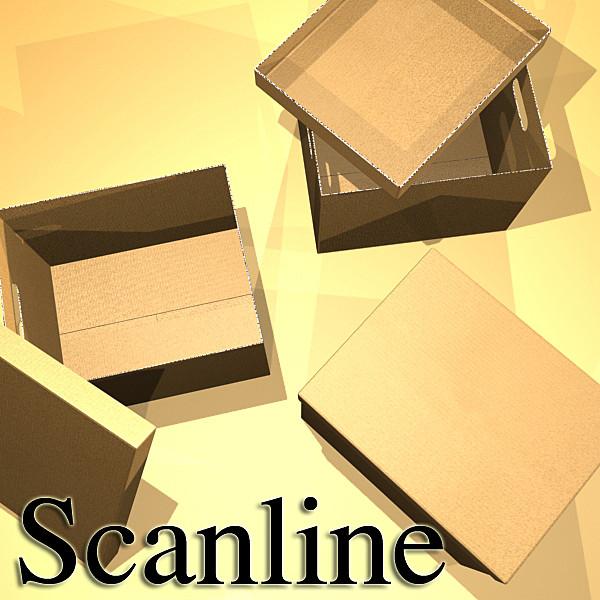photorealistic cardboard banker box high 3d model 3ds max fbx psd obj 130233