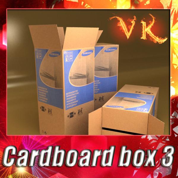 kuti kartoni photorealistic lartë res 3d model 3ds max fbx obj 130183