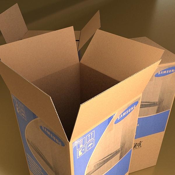 photorealistic cardboard box high res 3d model 3ds max fbx obj 130184