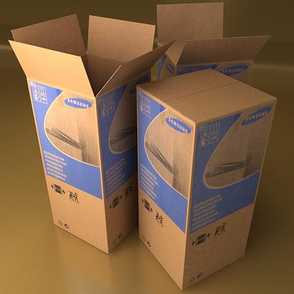 photorealistic cardboard box high res 3d model 3ds max fbx obj 130185