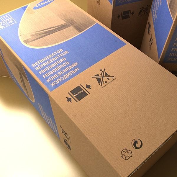 photorealistic cardboard box high res 3d model 3ds max fbx obj 130188