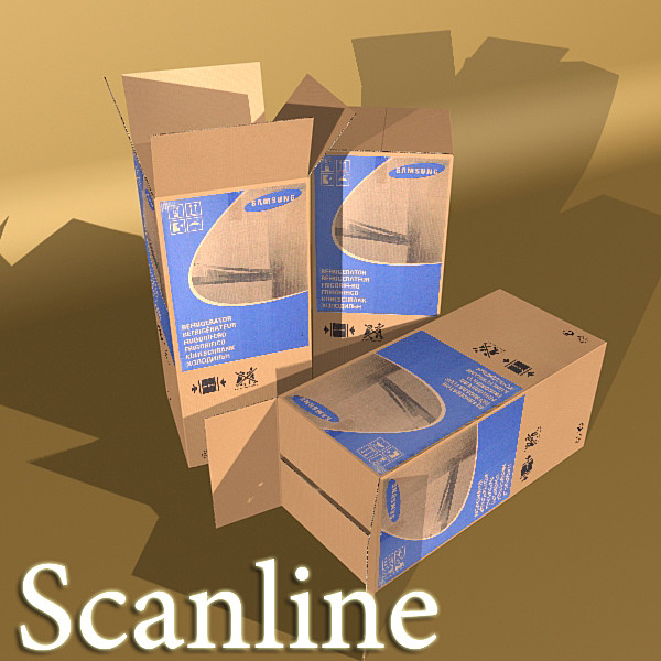 photorealistic cardboard box high res 3d model 3ds max fbx obj 130189