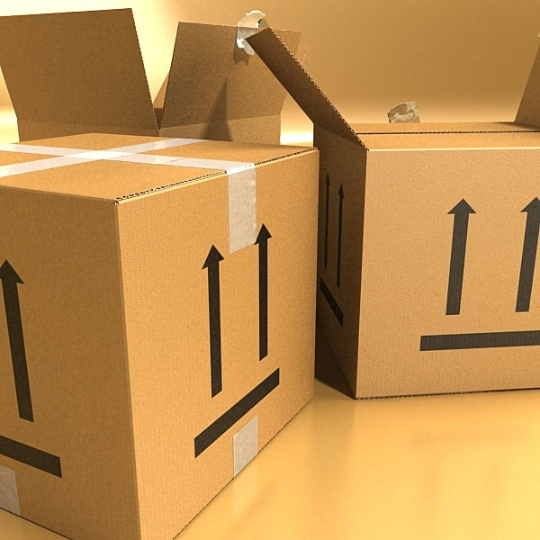 photorealistic cardboard box high res v2 3d model 3ds max fbx psd obj 130275