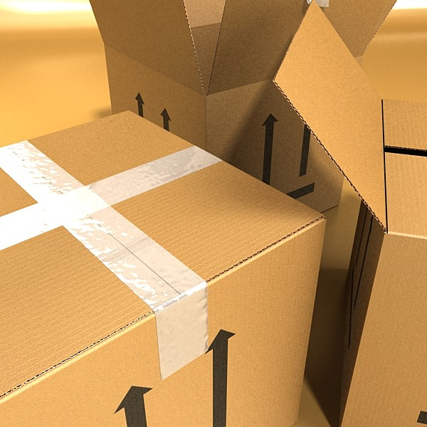 photorealistic cardboard box high res v2 3d model 3ds max fbx psd obj 130276
