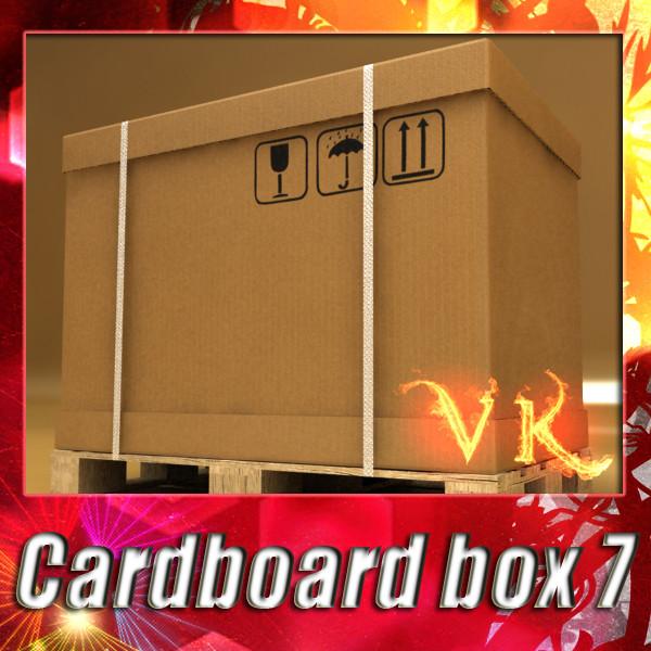 kardus karton photorealistic & pallet 3d model 3ds max fbx psd obj 130244