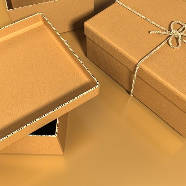 photorealistic cardboard box & rope 3d model 3ds max fbx psd obj 130247