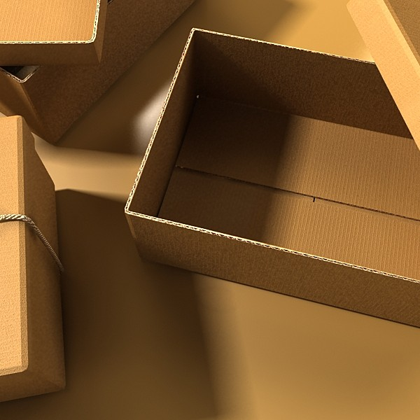 photorealistic cardboard box & rope 3d model 3ds max fbx psd obj 130248