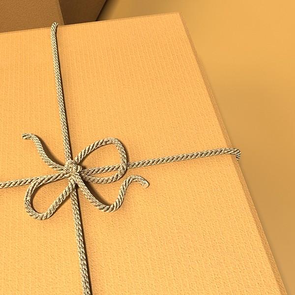 photorealistic cardboard box & rope 3d model 3ds max fbx psd obj 130249
