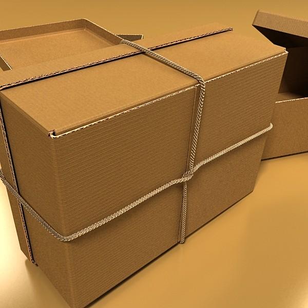 photorealistic cardboard box & rope 3d model 3ds max fbx psd obj 130251