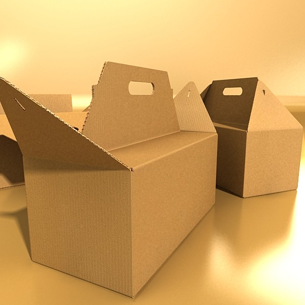 photorealistic cardboard carrier box high 3d model 3ds max fbx psd obj 130262