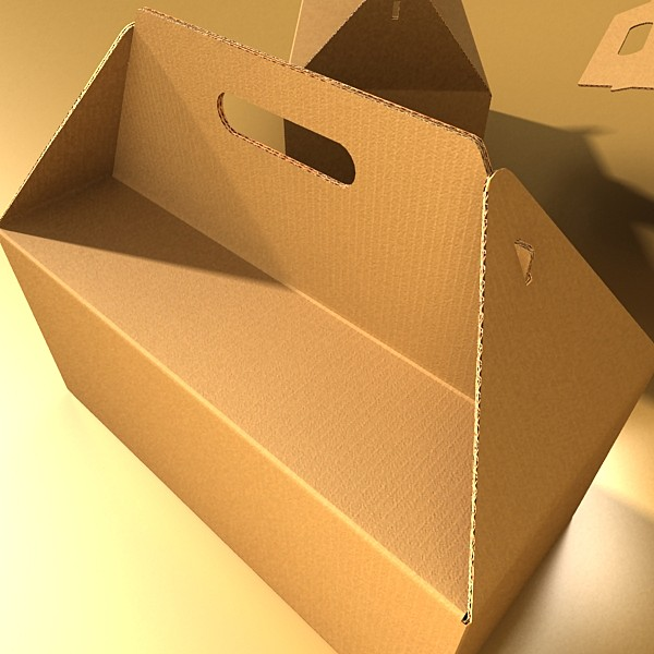 photorealistic cardboard carrier box high 3d model 3ds max fbx psd obj 130263