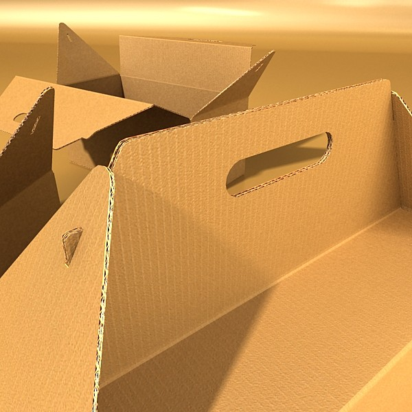 photorealistic cardboard carrier box high 3d model 3ds max fbx psd obj 130264