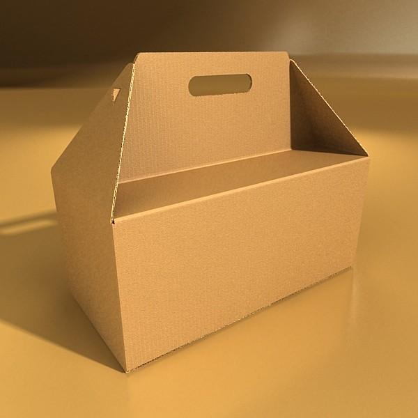 photorealistic cardboard carrier box high 3d model 3ds max fbx psd obj 130265