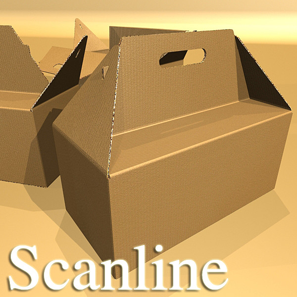 photorealistic cardboard carrier box high 3d model 3ds max fbx psd obj 130266