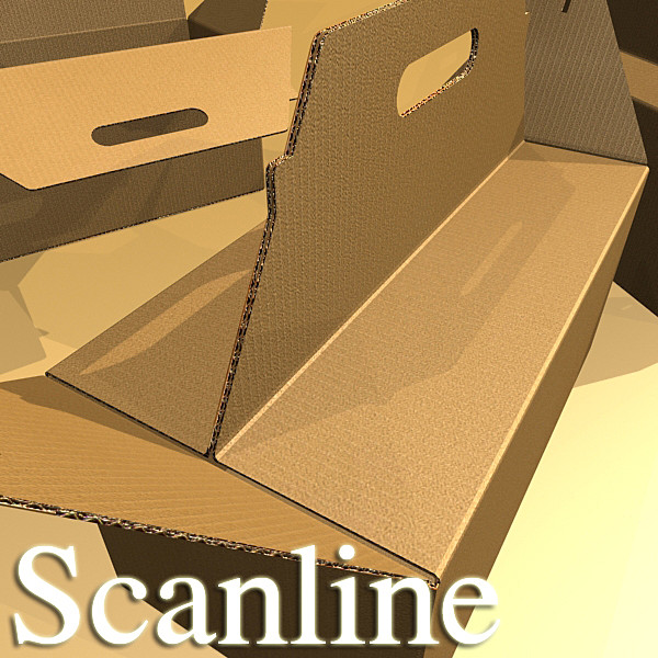 photorealistic cardboard carrier box high 3d model 3ds max fbx psd obj 130267
