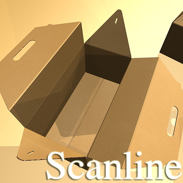 photorealistic cardboard carrier box high 3d model 3ds max fbx psd obj 130268