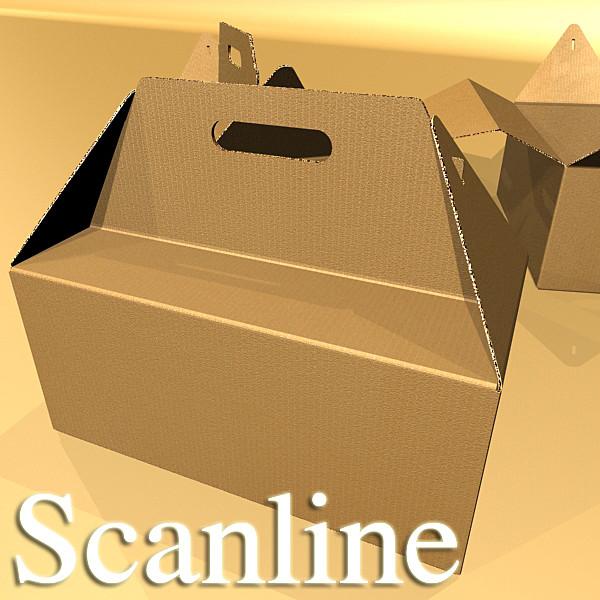 photorealistic cardboard carrier box high 3d model 3ds max fbx psd obj 130269