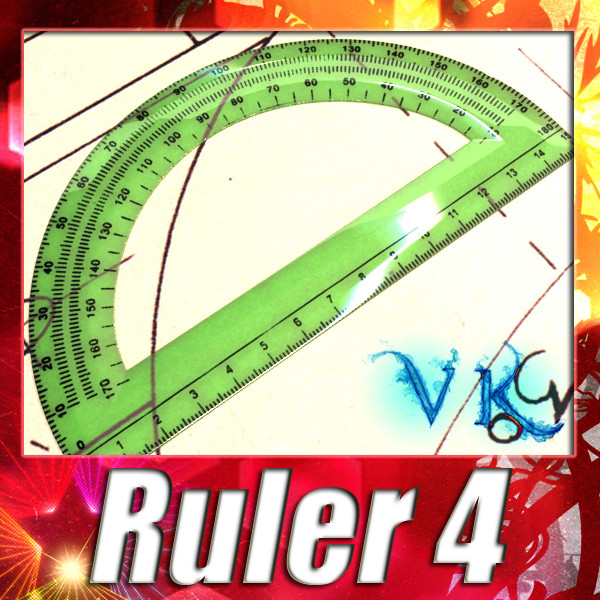plastic protractor ruler 04 3d model 3ds max fbx obj 132211