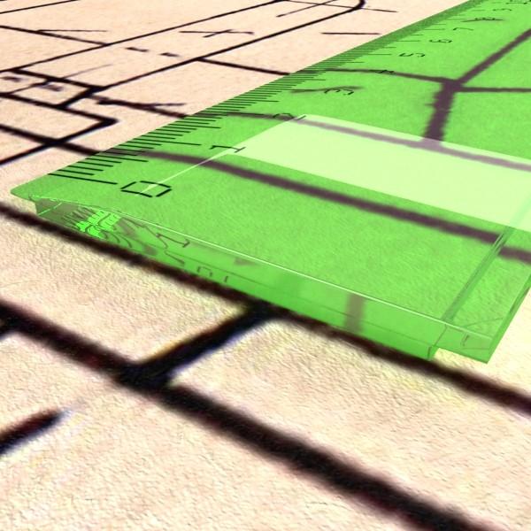 ruler 03 high res 3d model 3ds max fbx obj 132203