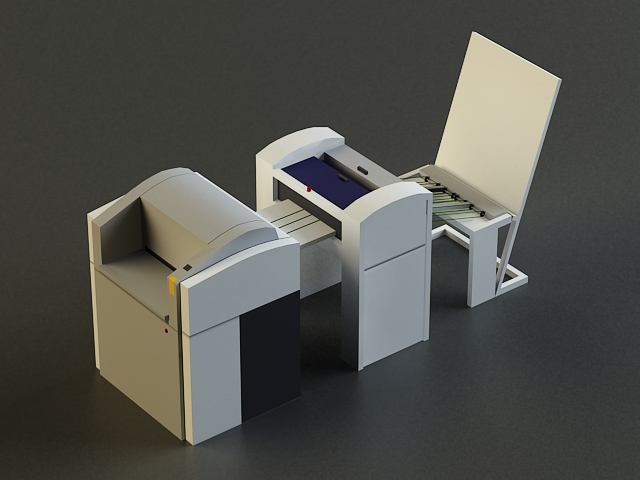 small offset printer 3d model 3ds max obj 138449