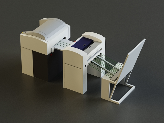 small offset printer 3d model 3ds max obj 138450