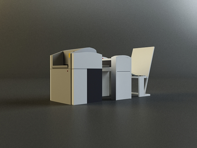 small offset printer 3d model 3ds max obj 138451