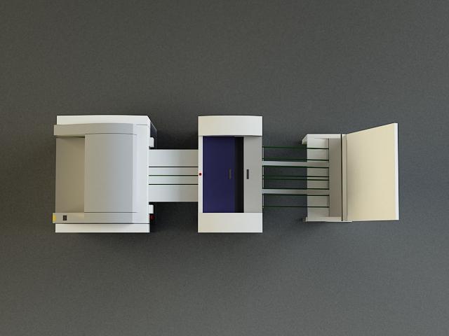 small offset printer 3d model 3ds max obj 138452