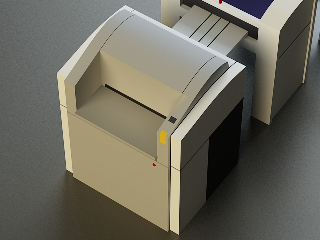 small offset printer 3d model 3ds max obj 138453
