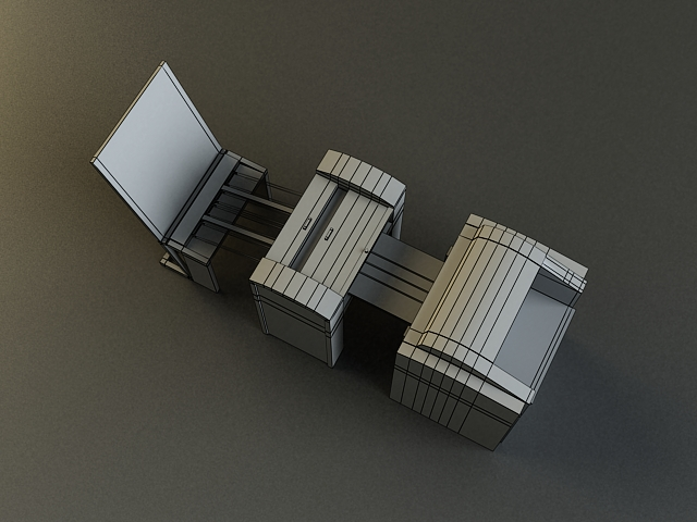 small offset printer 3d model 3ds max obj 138454