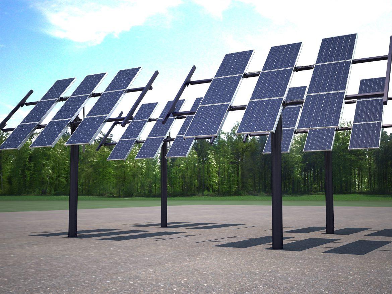 solar panel traking system 3d model max 164568