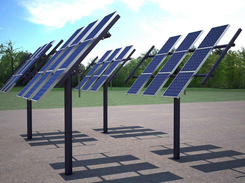 solar panel traking system 3d model max 164569