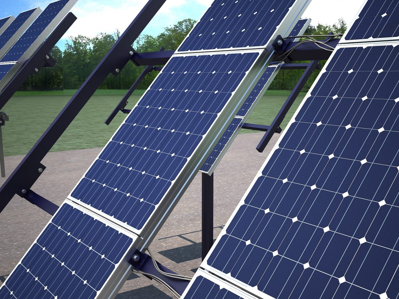 solar panel traking system 3d model max 164570