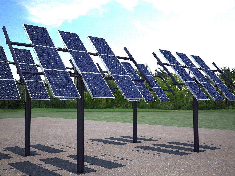 solar panel traking system 3d model max 164571