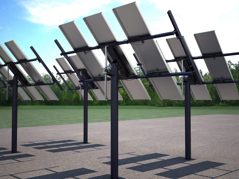 solar panel traking system 3d model max 164572