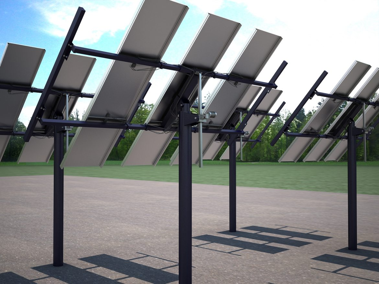 solar panel traking system 3d model max 164573