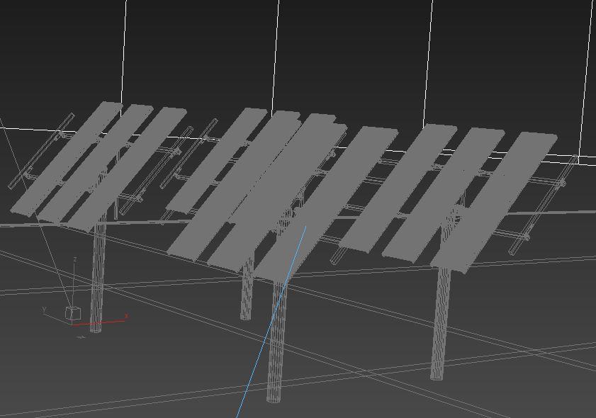 solar panel traking system 3d model max 164574