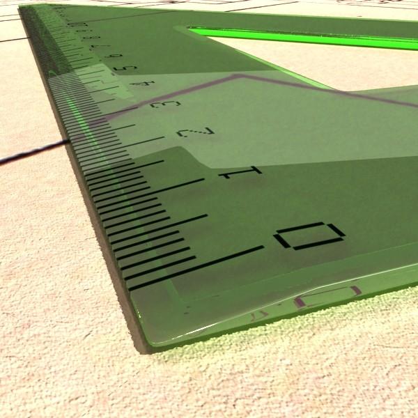 Négyszögletes vonalzó 01 3d modell 3ds max fbx obj 132181
