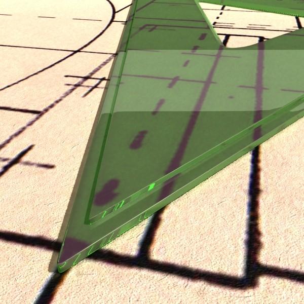Négyszögletes vonalzó 01 3d modell 3ds max fbx obj 132183
