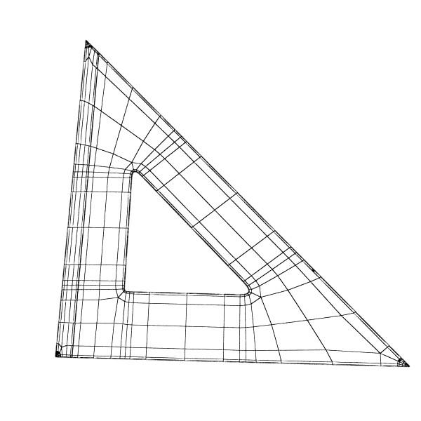 Négyszögletes vonalzó 01 3d modell 3ds max fbx obj 132188