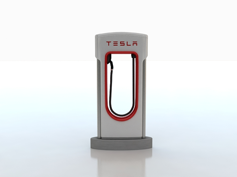 tesla electric car station 3d model max 164563