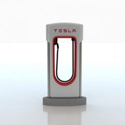 Tesla Electric Car Station ( 104.67KB jpg by S.E )