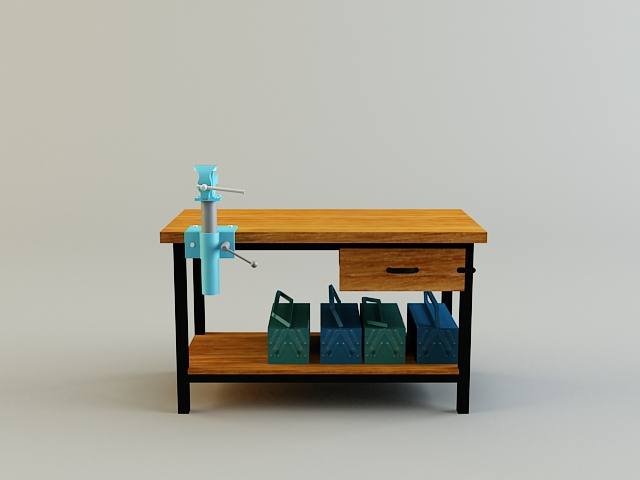 work bench 3d model 3ds max obj 139176