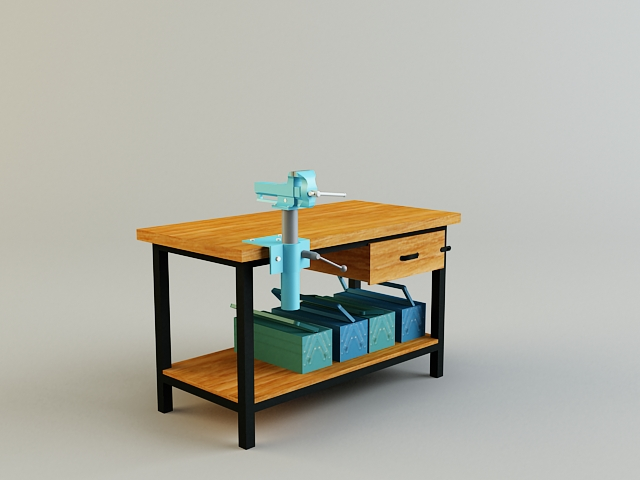work bench 3d model 3ds max obj 139177