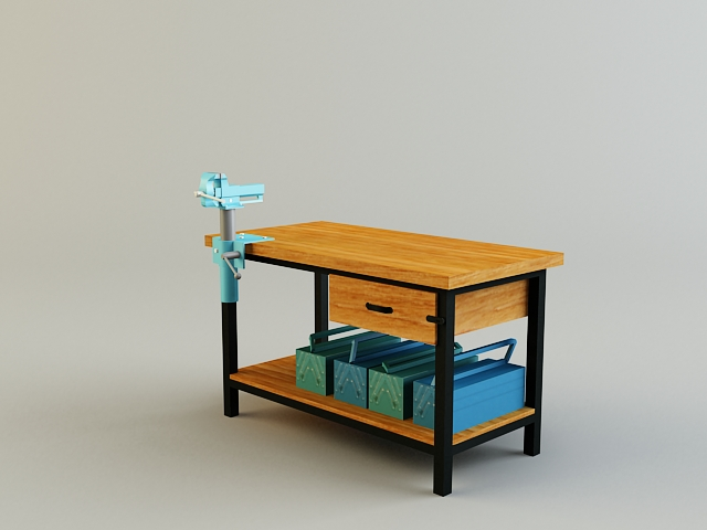 work bench 3d model 3ds max obj 139178
