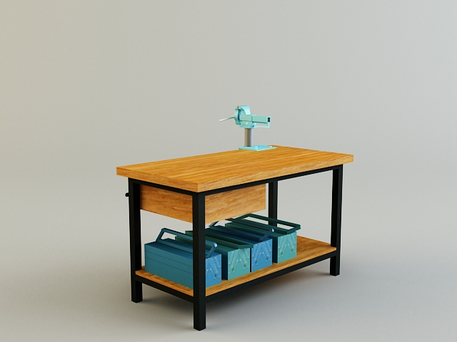 work bench 3d model 3ds max obj 139179